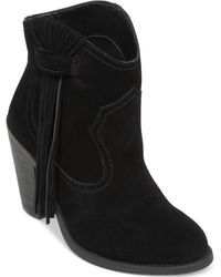 Jessica Simpson Colver Western Fringe Booties - Lyst