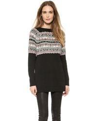 Rag & Bone Adelina Split Back Sweater Black - Lyst