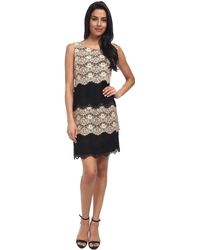 Jessica Simpson Scallop Lace Tier Dress - Lyst