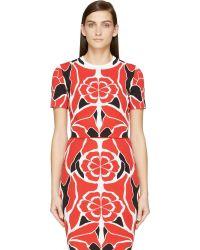 Alexander McQueen Red Matisse Print Cropped Top - Lyst