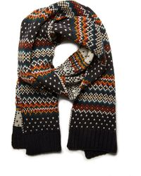 Forever 21 - Fair Isle Striped Scarf - Lyst