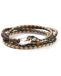 Paul Smith Multicolor Braided Bracelet - Lyst