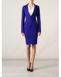 Armani Blue Skirt Suit - Lyst