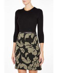 Burberry Brit Knit Top Jacquard Dress - Lyst