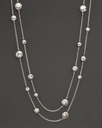 John Hardy Palu Sterling Silver Disc Station Sautoir Necklace 72 - Lyst