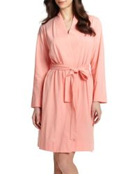 Cottonista Cotton Jersey Short Robe - Lyst