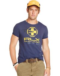 RLX Ralph Lauren Triad Cotton Graphic T-Shirt - Lyst