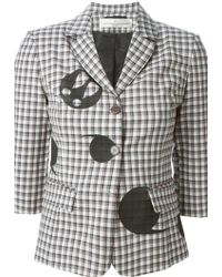 Golden Goose Deluxe Brand Checked Patch Blazer - Lyst
