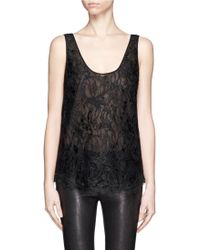 Emilio Pucci Lace Sleeveless Top - Lyst