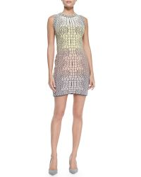 M Missoni Crocodile Jacquard Sheath Dress - Lyst