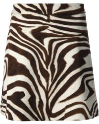 MICHAEL Michael Kors Zebra Print Skirt - Lyst