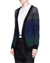 Helen Lee - Ombré Intarsia Knit Cardigan - Lyst