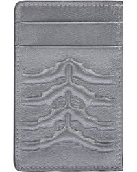 Alexander McQueen Rib-Cage-Embossed Card Case - Lyst