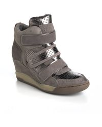 Ash Alex Suede Wedge Sneakers - Lyst