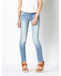 Patrizia Pepe Skinny 5 Pocket Stretch Denim Jeans - Lyst