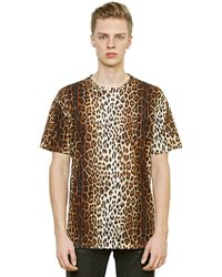 Moschino Oversized Leopard Printed Cotton T-Shirt - Lyst