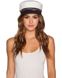 Eugenia Kim Marina Hat white - Lyst