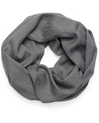 Tory Burch Stacked-t Jacquard Infinity Scarf - Lyst