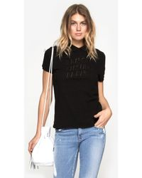 Maison Kitsuné Embroidered Polo Solid - Lyst