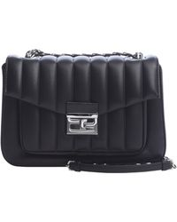 Fendi Black Leather 'Be Baguette' Convertible Shoulder Bag - Lyst