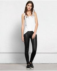 Rag & Bone Skinny Washed Black - Lyst