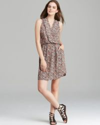 Charles Henry - Dress - Wrap Front Ditsy Floral - Lyst