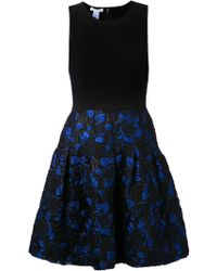 Oscar de la Renta Flared Dress - Lyst