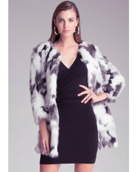 Bebe Lizzi Faux Fur Coat - Lyst