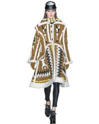 KTZ - Patches On Faux Shearling Coat - Lyst