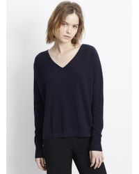 Vince | Cashmere Long Sleeve V-neck Pullover Sweater | Lyst