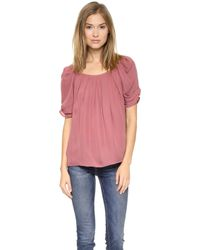 Joie Eleanor Blouse  Rouge - Lyst