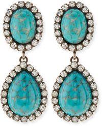 Dannijo Cash Turquoise Drop Earrings - Lyst