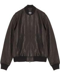 Y-3 Lion Leather Jacket - Lyst