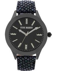 Steve Madden - Womens Black Pythonembossed Leather Strap 40mm 04 - Lyst