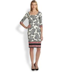 Etro Scoopneck Printed Jersey Dress - Lyst