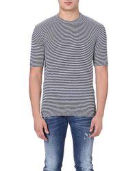 DSquared2 Striped Tshirt Navy - Lyst