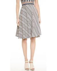 Shakuhachi - Directional Stripe Circle Skirt - Super Stripe - Lyst