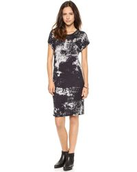 Just Female Earth Print T-Shirt Dress Earth Print - Lyst