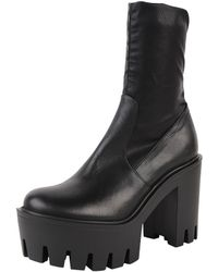 Strategia Leather Platform Boot - Lyst