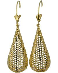 Lord & Taylor - 14k Yellow Gold Textured Teardrop Earrings - Lyst