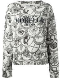 Frankie Morello - Mixed Print Logo Sweatshirt - Lyst