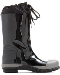 Miu Miu Black Patent-leather Boots - Lyst