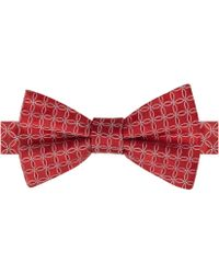 Tommy Hilfiger Red Circle Neats Bow Tie - Lyst