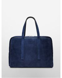 Calvin Klein Collection Suede Large Satchel - Lyst