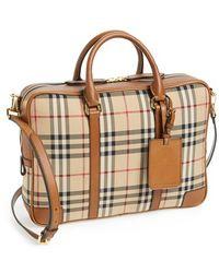 Burberry 'Horseferry Check - Newburg' Crossbody Briefcase brown - Lyst