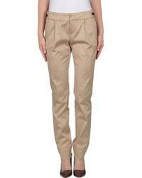 Gucci Beige Casual Pants - Lyst