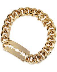 McQ by Alexander McQueen Chunk Chain Large Razor-blade Id Bracelet - Lyst