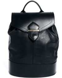 Asos Leather Luxe Backpack - Lyst