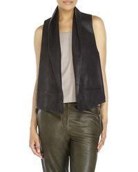 Haider Ackermann Celan Leather Waistcoat black - Lyst