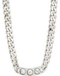 Balenciaga Marble Stud Id Necklace - Lyst